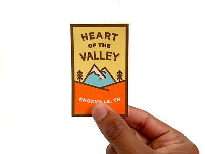 Heart of the Valley Sticker trees mountains tn knox tennessee knoxville sticker heart of the valley