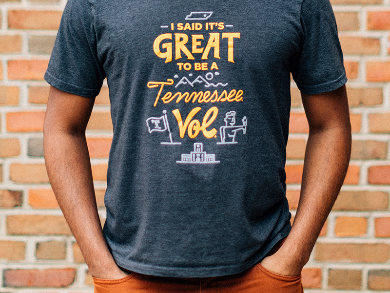 I Said It's Great... pt. II tennessee vol volunteer ut university of tennessee torchbearer knoxville tn