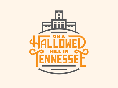 Hallowed pt. III conference tote bag shirt ut university typography type tennessee lettering hallowed  hill
