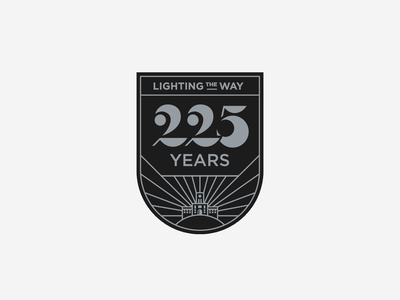 225th Anniversary pt. IV shapes geometric vol volunteer ayres light number lettering illustration knoxville tennessee