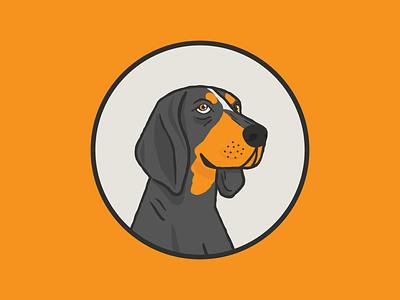 Smokey X illustration tn knoxville university of tennessee tennessee smokey smokeyx dog