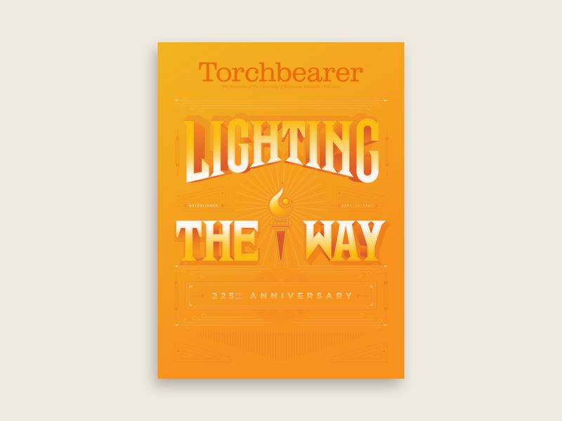 Torchbearer pt I university of tennessee handlettering type typography lettering magazine design tn torch light illustration 225 years anniversary torchbearer knoxville tennessee magazine