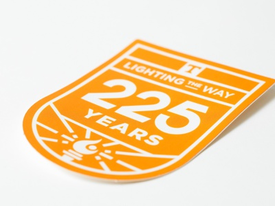 225th Anniversary Final pt. I branding sticker design university of tennessee tn vector illustration knoxville tennessee type