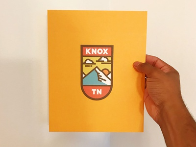 Knox TN Print design illustration tn knox sun mountains clouds tennessee knoxville
