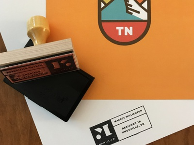 MAWILL CO Stamp branding design logo ink tn knox tennessee knoxville stamp