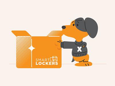 Intelligent Lockers Smokey v. I tn knox knoxville university of tennessee tennessee packaging design packaging box smart lockers intelligent dog smokey smokeyx