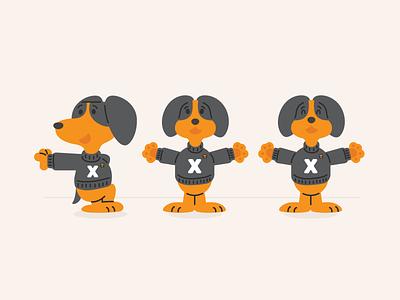 Intelligent Lockers Smokey v. II dog illustration locker smart packaging design packaging smokey illo illustration dog tn knox university of tennessee knoxville tennessee