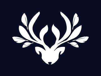 Feather Deer branding design simple character illustrations icon illustration logodesign logo design logo