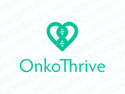 OnkoThrive Logo logo icon typography branding simple