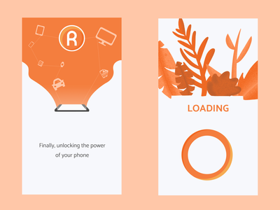 The Rivet App Mockups branding app vector simple design ui procreate float