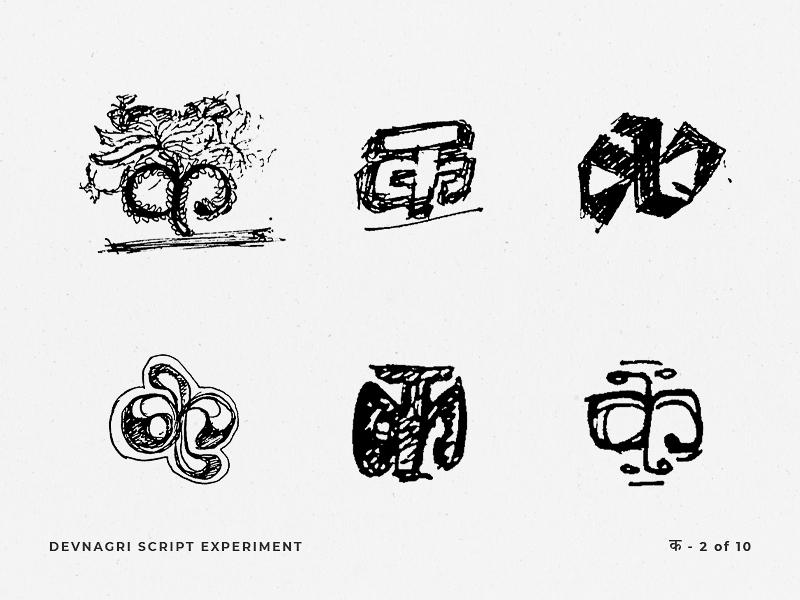 Devnagri Script Experiment by Rupinder on Dribbble
