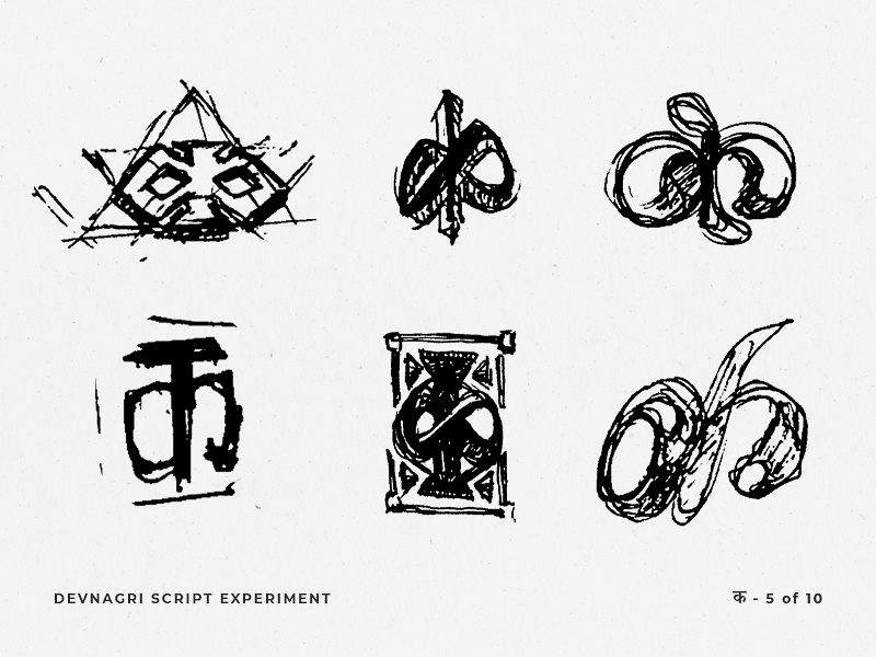 Devnagri Script Experiment photoshop indianartist variations brainstorm drawing rough sketch pencil sketch 2019 trends experimental behindthescenes wip typography typeface indian hindi branding illustration india daily design