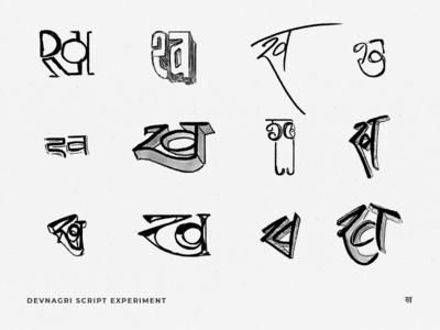 Devnagari Script Experiment