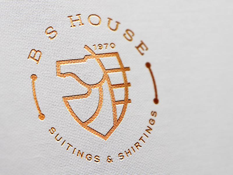 B.S. House | Logo graphic identity india typography branding logo