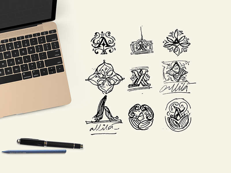 Concept sketches   logo pencil shape exploration behindthescene wip sketch graphic identity india typography branding logo