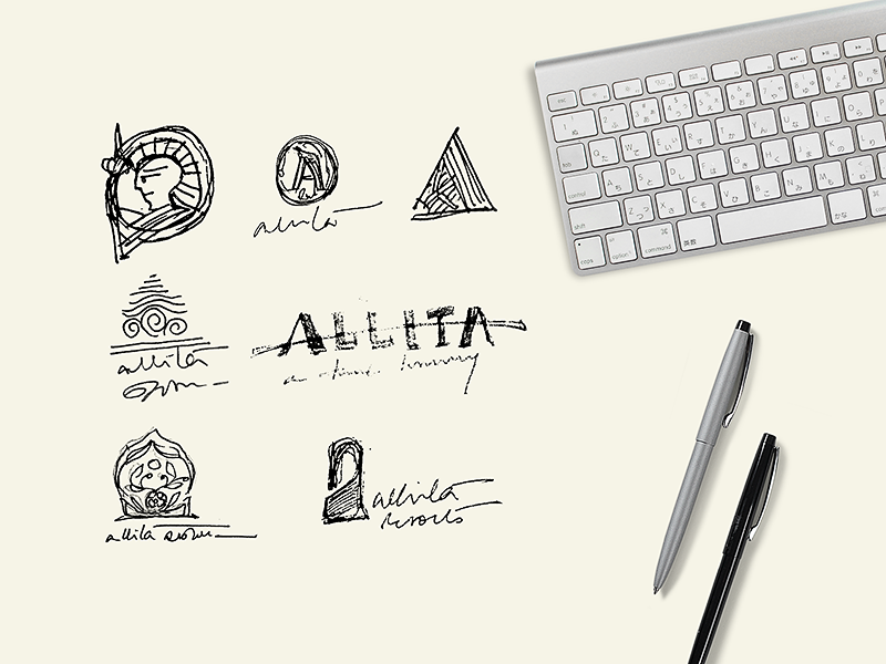 Logo concept sketches pencil shape exploration behindthescene wip sketch graphic identity india typography branding logo