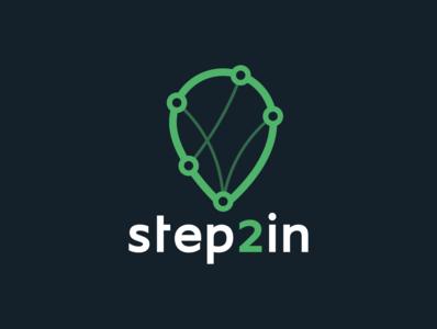 Step2In brand identity brand logos logodesign logotype logo steptoin step2in location tracker location pin air balloon branding