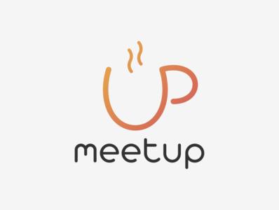 MeetUp brand brand identity logotype logo up meetups meetup entrepreneurs cup coffee cup branding