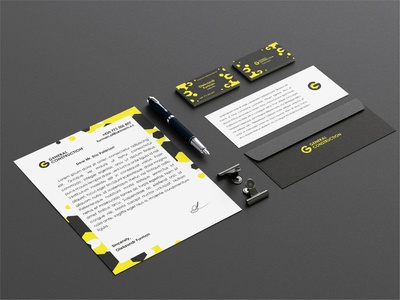 Corporate identity for a construction company