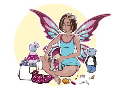 Vector Print Illustration Fairy Dolls disney art animeart avatar print disney avatardesign portrait illustration