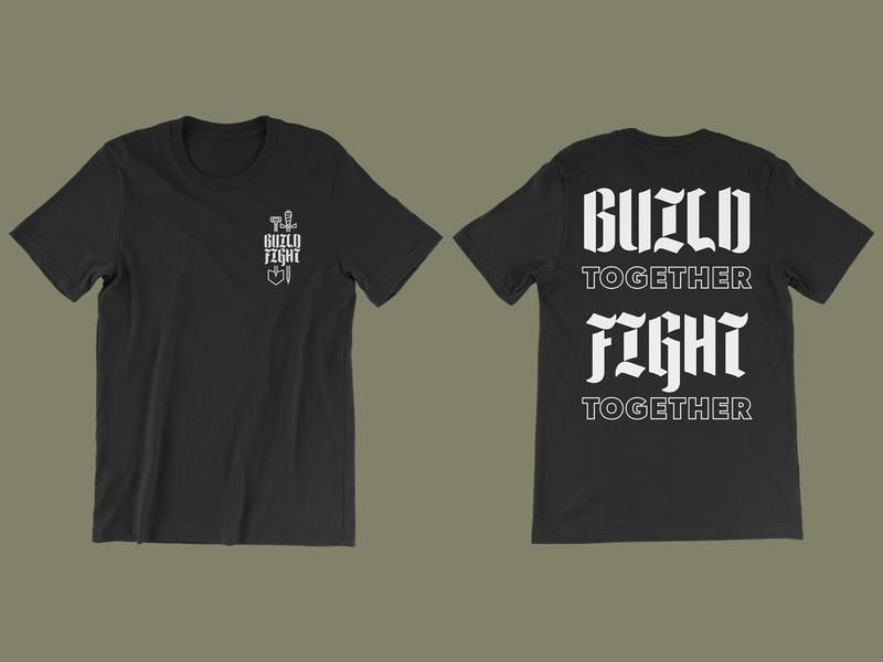 Build Fight Tee apparel mockup apparel design apparel fight build tshirt