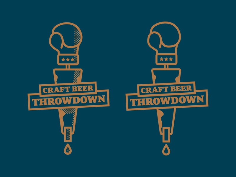 Craft Beer Throwdown Logo craftbeer beer art logo throwdown craft beer beer