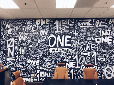 One At A Time Wall one tag graffiti mural