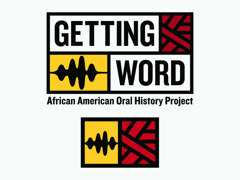 Getting Word Logo jefferson thomas history audio sound african pattern african american logo design logo