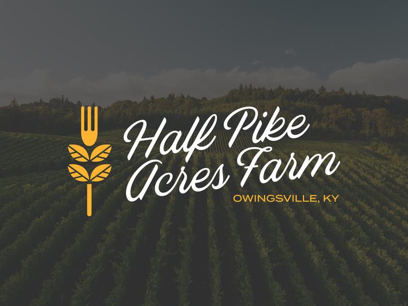 Half Pike Acres Farm branding fork farm logo design logo