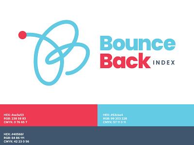 Bounce Back logo gauge branding logo design bounce back bounce logo