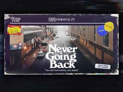 Never Going Back Series tape neon 80s vcr vhs church design church sermon series