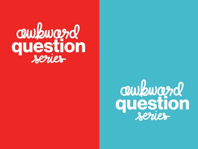 Awkward Question Series - Unused handlettering handlettered series logo