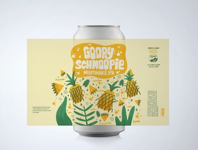 Goopy Schmoopie handdrawn ipad procreate beer label beer beer art beer can