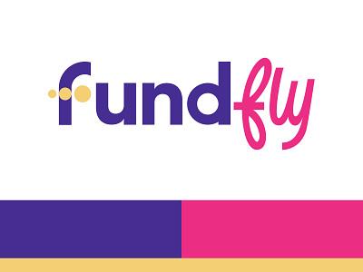 FundFly Logo type brand identity branding illustration logo