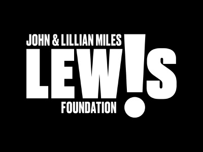John and Lillian Miles Lewis Brand black and white civil rights exclamation john lewis logo branding