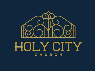 Holy City gate custom logo church