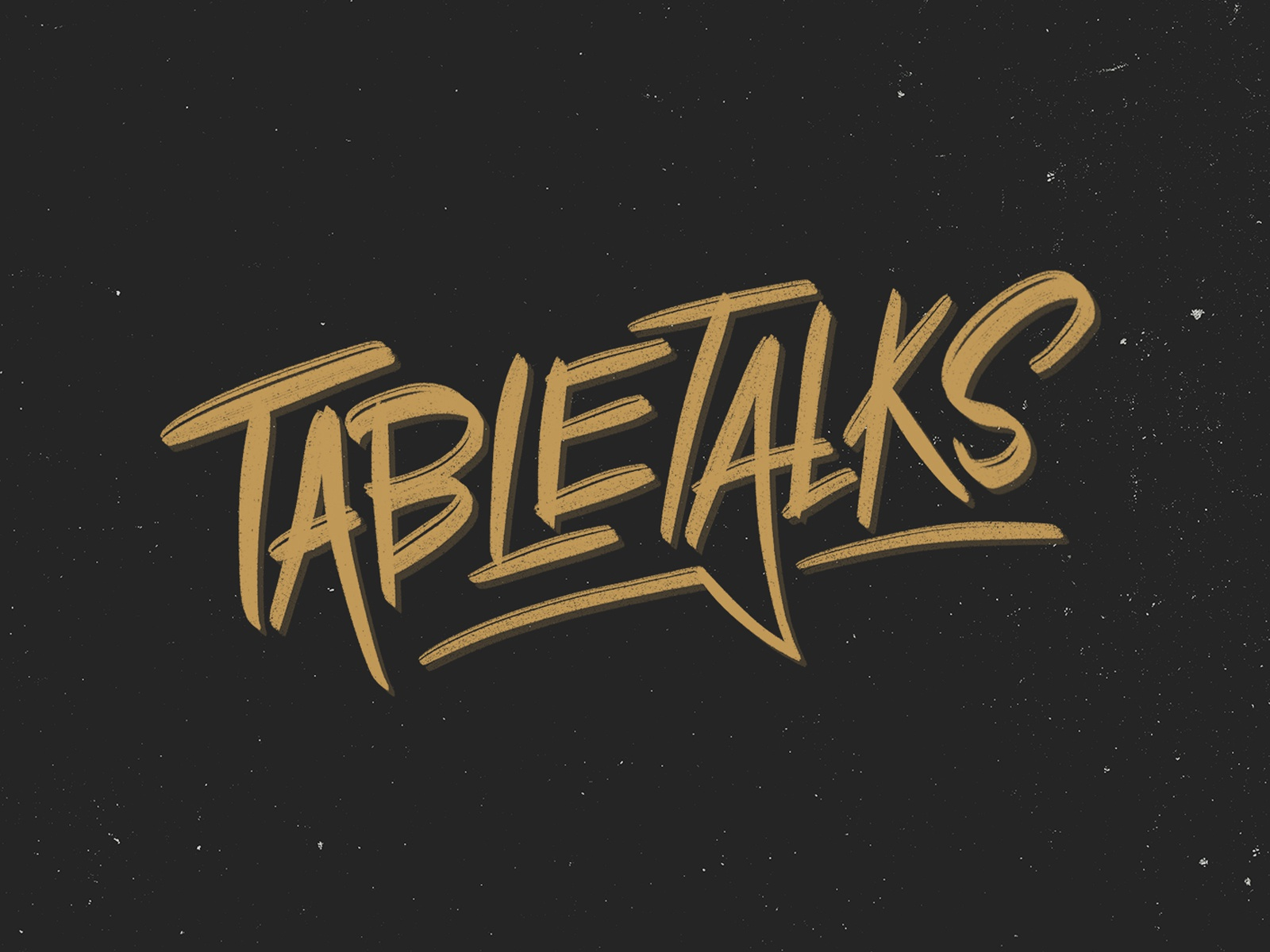 Table Talks Logo lettering logo