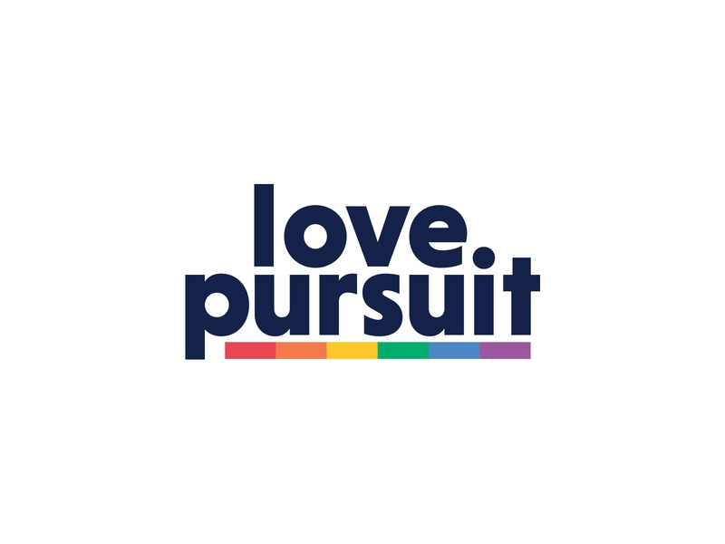 Love Pursuit lgbtq rainbow logo love