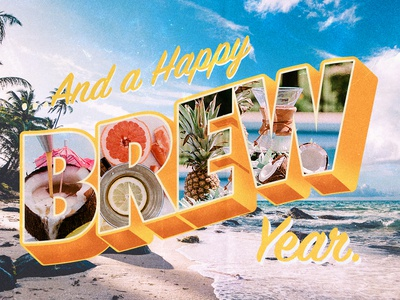 Happy Brew Year Postcard