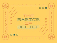 Basics Belief Custom Lettering