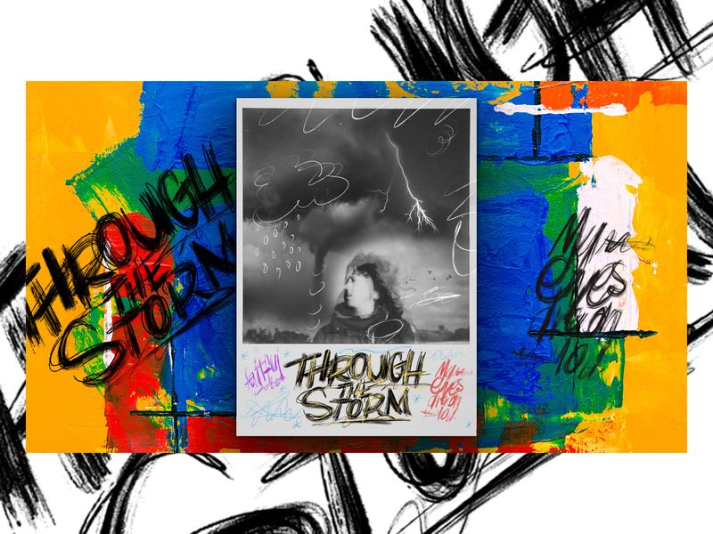Through the Storm storm sermon series sermon art sermon ipadpro procreate lettering