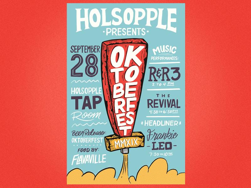 Oktoberfest Poster beer art lettering hand lettered hand drawn poster oktoberfest beer