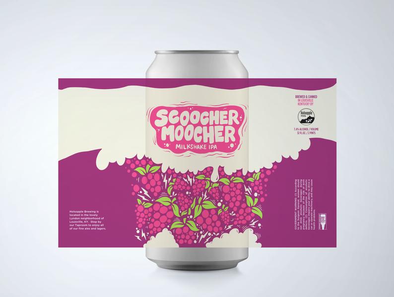 Scoocher Moocher handlettering hand drawn procreate beer art beer can beer branding beer label beer