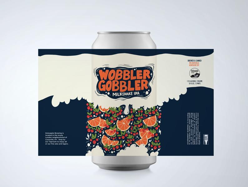 Wobbler Gobbler procreate beer label design beer label beer art beer can beer