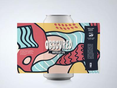 Obscure beer label design procreate beer can design beer branding beer label beer art beer can beer