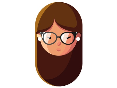 WIP Portrait girl portrait graphic illustration hair nashville wedding save the date