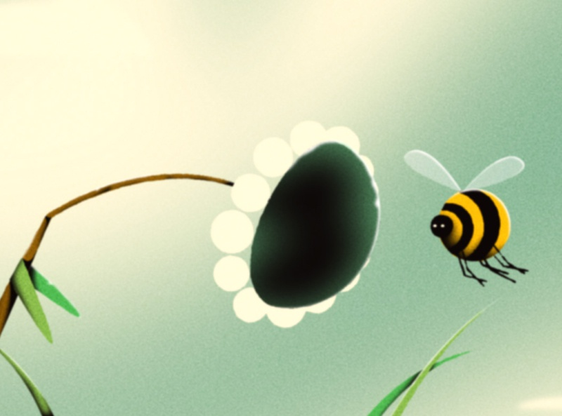 Bee and a Flower character design after effects nashville illustration