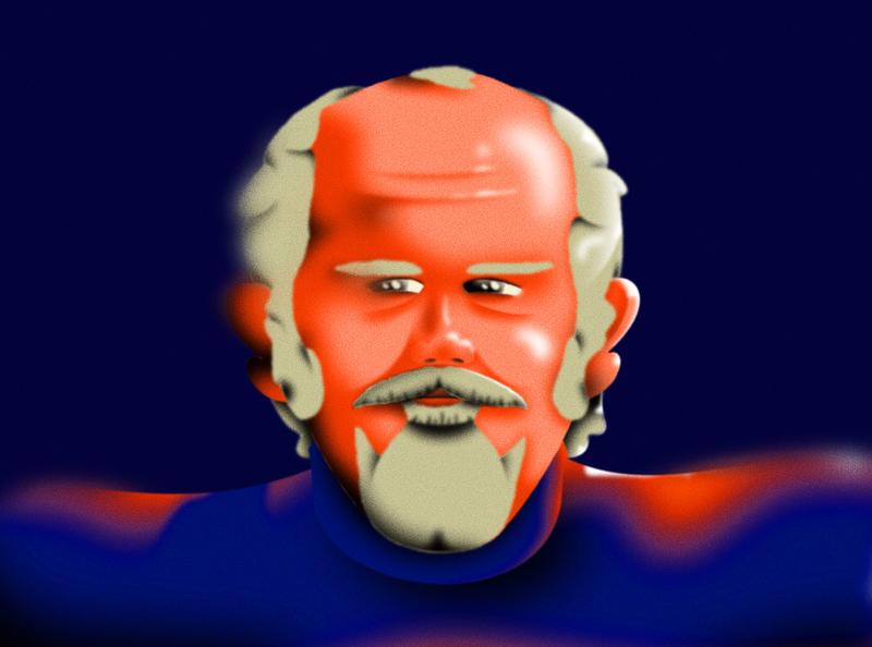 Robert Altman character design 2d after effects illustration
