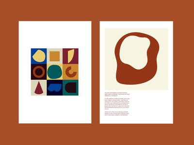 Abstract art spread