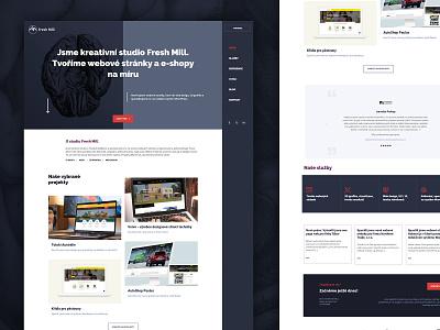 Fresh Mill studio wordpress website design web design website branding design art inspiration